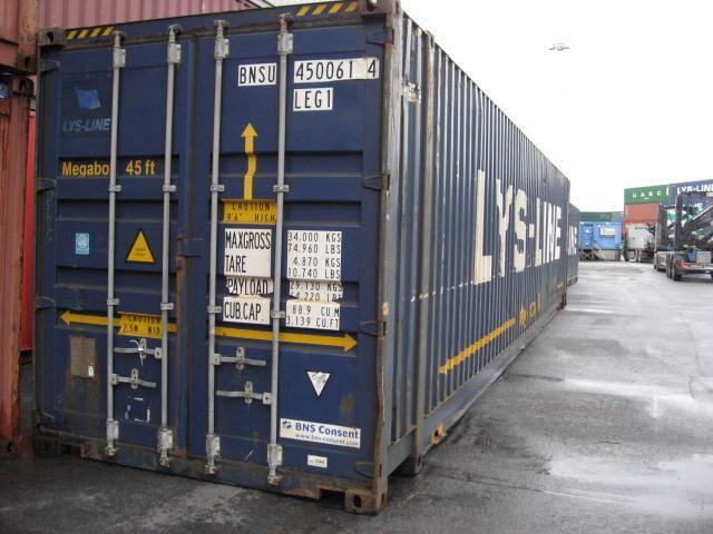 45 футовый широкий морской контейнер High Cube Pallet Wide 45 или 45HCPW