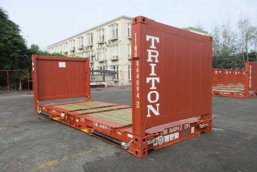 20 футовый открытый контейнер со складными стенками Flat Rack 20