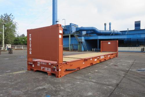 40 футовый открытый контейнер со складными стенками Flat Rack 40