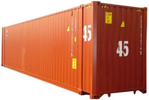 45 футовый высокий морской контейнер High Cube 45' или 45HC